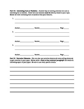 Research Paper--Formulating an Introduction Worksheet