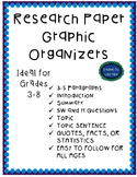 Research Paper Graphic Organizer for grades 3-8