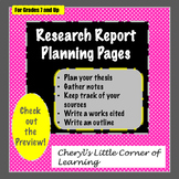 Research Paper Graphic Organizers for Planning, Notetaking