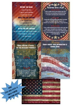 Research Paper Guide Posters, USA Grunge Theme