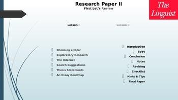 Research Paper II