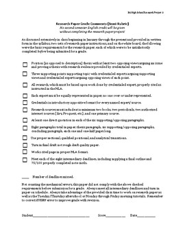 Research Paper Instruction Packet