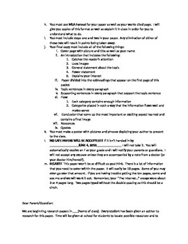 Research Paper Instructions, Outline, and Contract