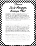 Research Paper Body Paragraph Writing Scavenger Hunt