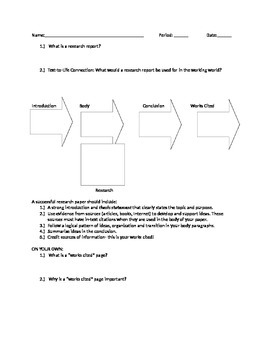 Research Paper Introduction Sheet
