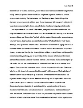 Research Paper -- Nathaniel Hawthorne