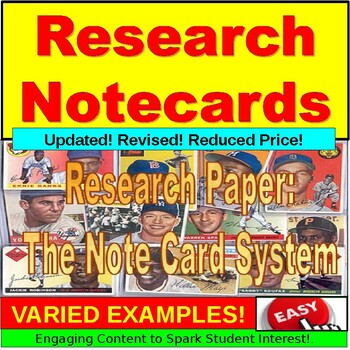 Research Paper Lesson : Note Card System PowerPoint