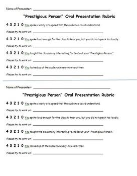 Research Paper Oral Presentation Rubric