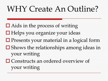 Research Paper: How to Write an Outline