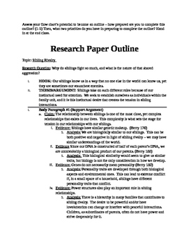 Research Paper Outline Lesson And Sample