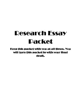 Research Paper Packet