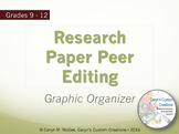 Research Paper Peer Editing Graphic Organizer