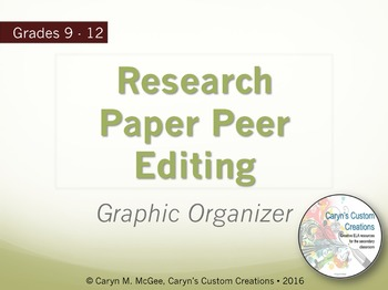 Research Paper Peer Editing Graphic Organizer