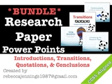 Research Paper Power Points BUNDLE