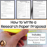Research Paper Proposal Assignment Sheet and Grading Rubri