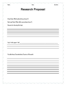research paper proposal worksheet by rachels ready to use