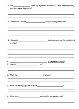 Research Paper Question Handout