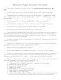 Research Paper Revision Checklist