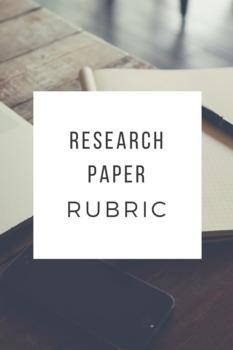 Research Paper Rubric (College-level)