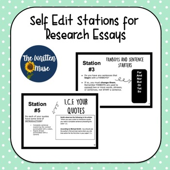 Research Paper Self Edit Stations