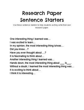 cool sentence starters