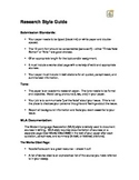 Research Paper Style Guide