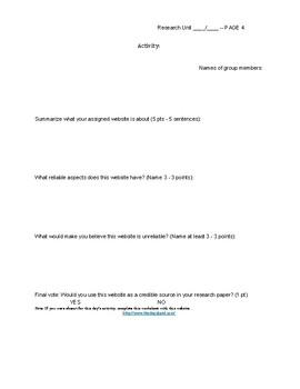 Research Paper Unit