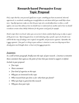 Research Paper Unit Materials, Notes, and Handouts, Persuasive Essay