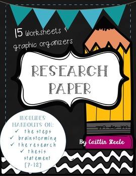 Research Paper Worksheet Bundle