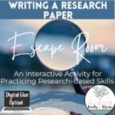 Writing a Research Paper Escape Room: Engaging Activity for Practicing MLA