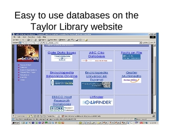 Research Paper:Using the Library Databases
