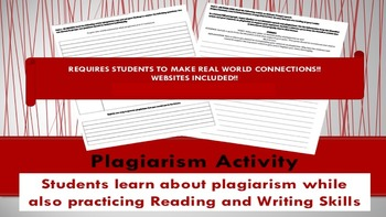 Research Plagiarism Activity