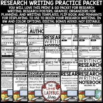 Research Paper Writing [Graphic Organizers, Anchor Charts & More]