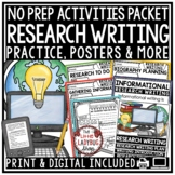 Research Paper Writing -Flip Book Graphic Organizers, Posters- Biography Writing