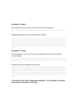 Research PowerPoint Organizer