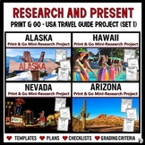 Research & Present: USA Travel Guide Project Bundle (Set 1)