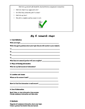 Research Process for Grades 4-6