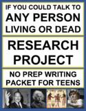 Research Project 6th Grade - 12th Grade: Fun Research Paper & Graphic Organizers