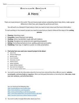 Research Project: A Hero