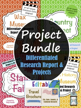 Social Studies Project BUNDLE 6-8 CCSS Aligned with Differentiated Options