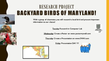 Research Project Birds of MD
