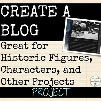 Blog social studies or language arts project EDITABLE RUBRIC