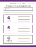 Research Project Brainstorming Worksheet