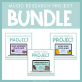 Music Research Project Bundle for Google Slides™ | Distanc