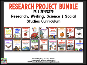 Research Project Bundle:  FALL Research And Writing Curriculum