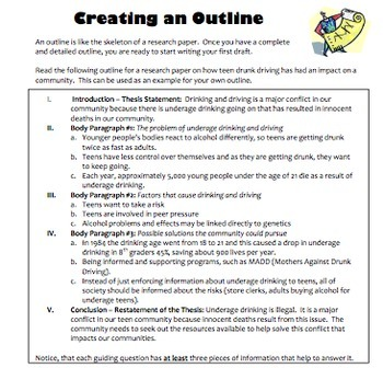 Research Project Bundle: Outline Organization and Essay Writing: Teen Issues