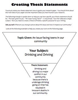 Research Project: Outline Organization and Essay Writing: Teen Issues