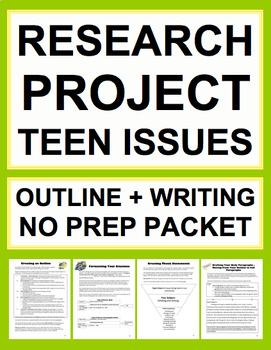 Research Project Bundle: Outline Organization and Essay Wr