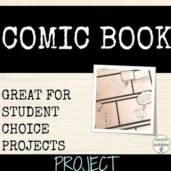 Comic book project for any unit of study EDITABLE RUBRIC