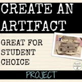Artifact Project for Social Studies and More EDITABLE Rece